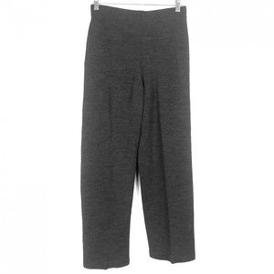 Eileen Fisher Gray Wool Stretch Pull On Pant Small